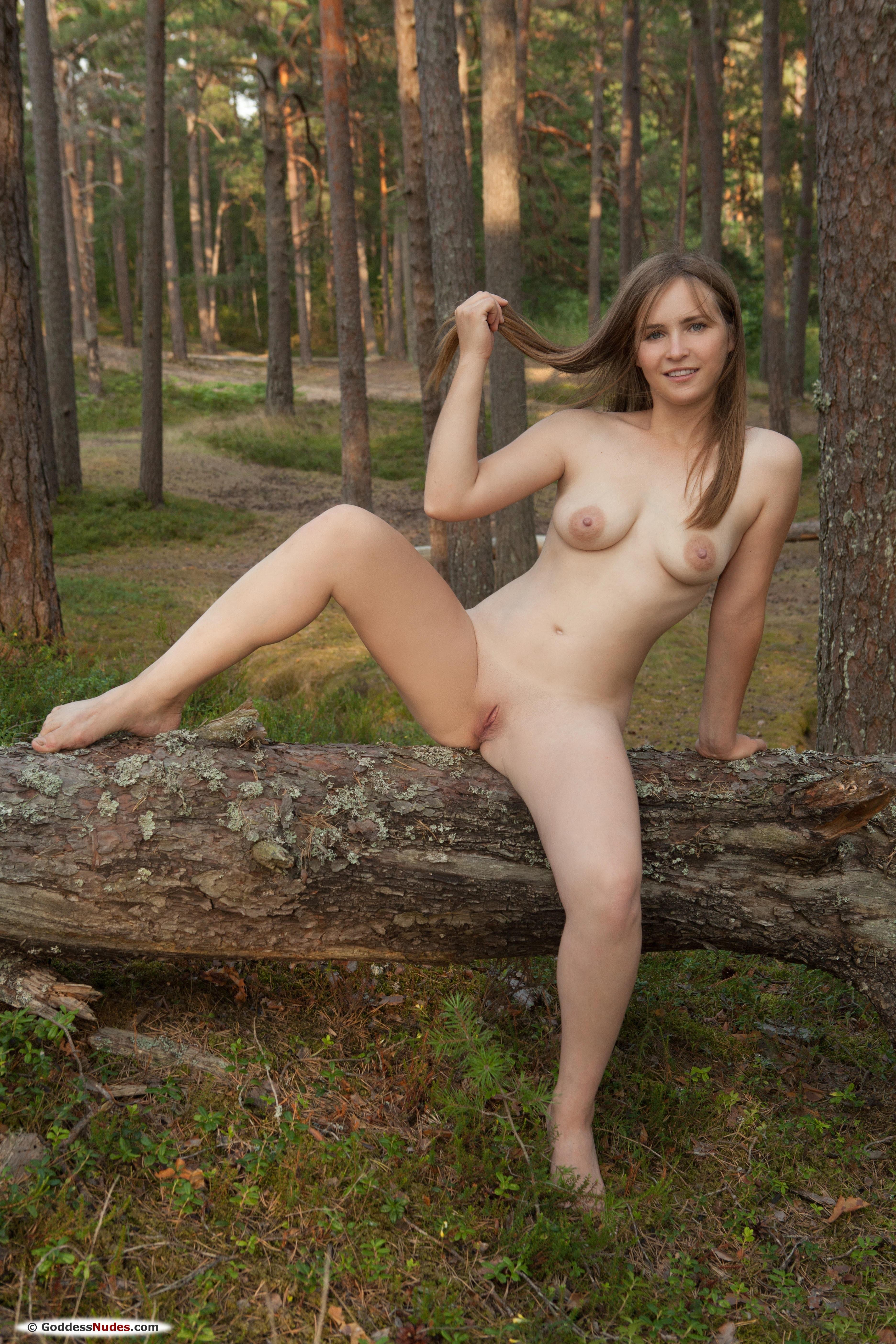 Молодая милашка с маленькой грудью голая  - фото